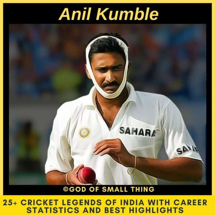 Best Cricketers of India Anil Kumble