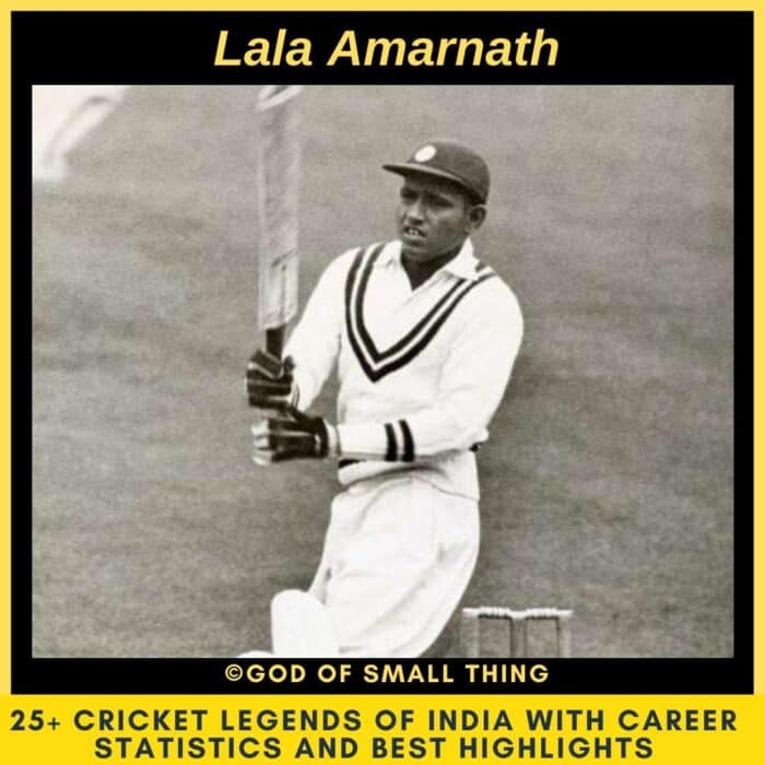Best Cricketers of India Lala Amarnath