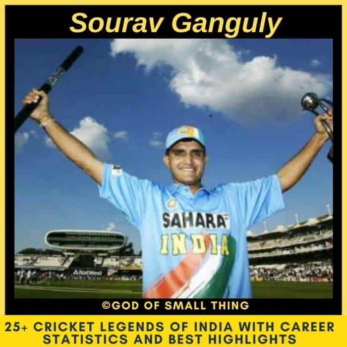 Best Cricketers of India Sourav Ganguly