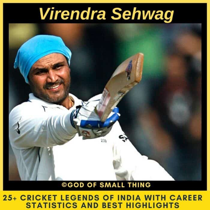 Best Cricketers of India Virendra Sehwag