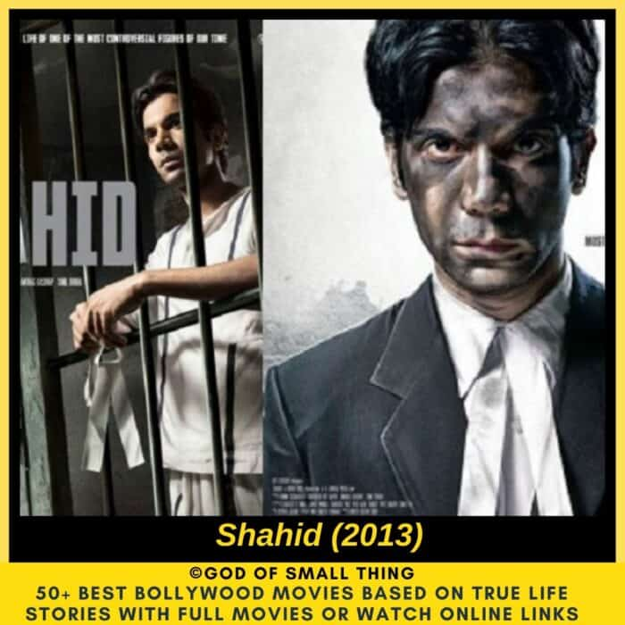 Bollywood movies based on true stories Shahid