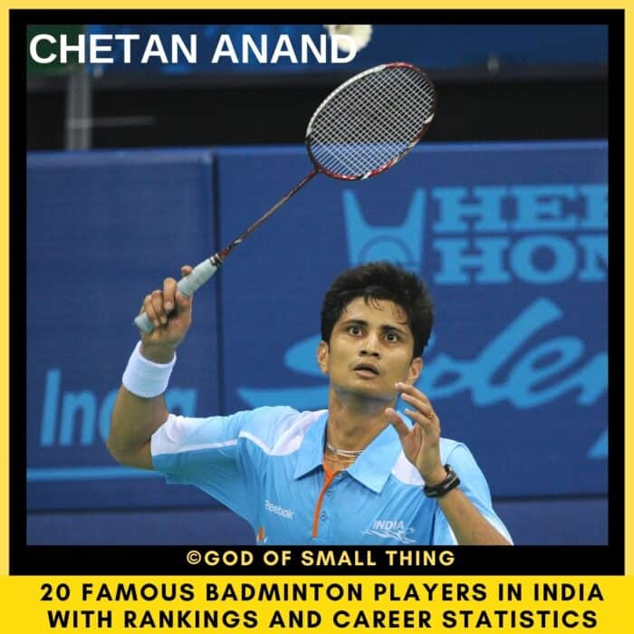 famous badminton players in India Chetan Anand