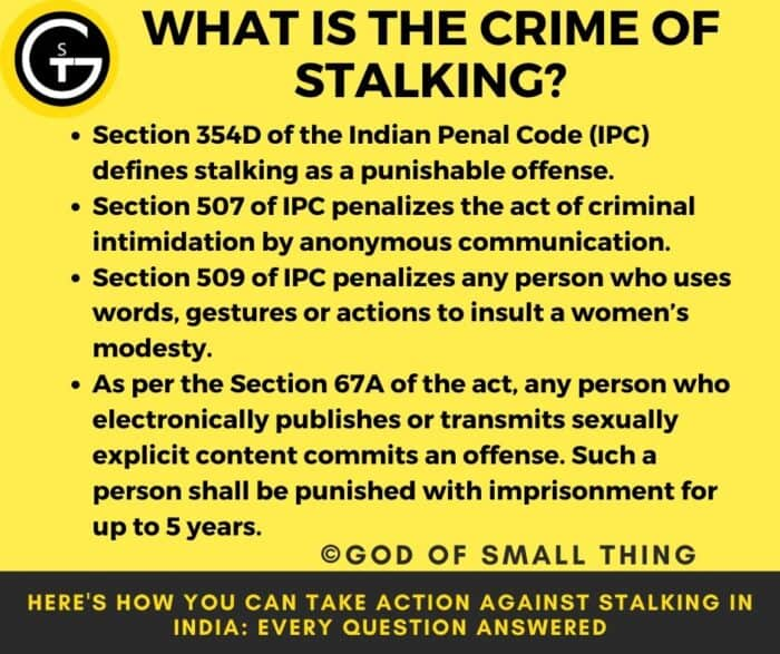Cyber stalking laws in India