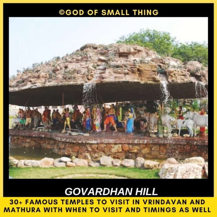 Places to Visit in Mathura temples in vrindavan Govardhan hill