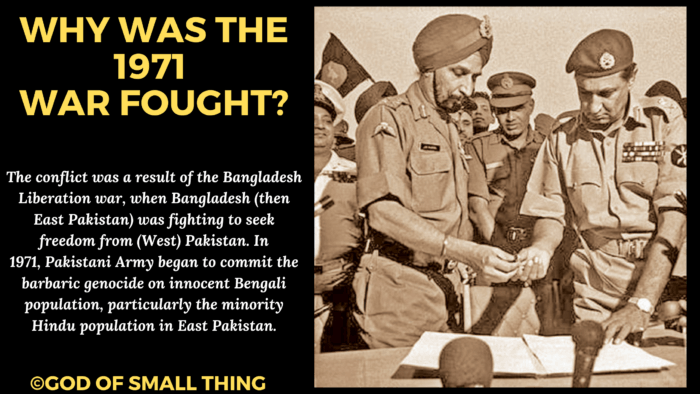 Why was the Indo Pak war of 1971 war fought