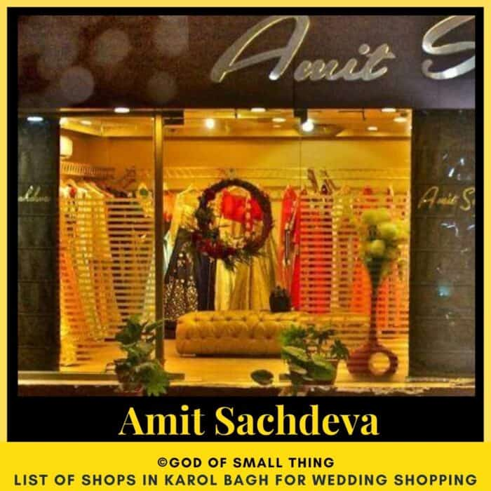 Karol Bagh wedding shopping Amit Sachdeva