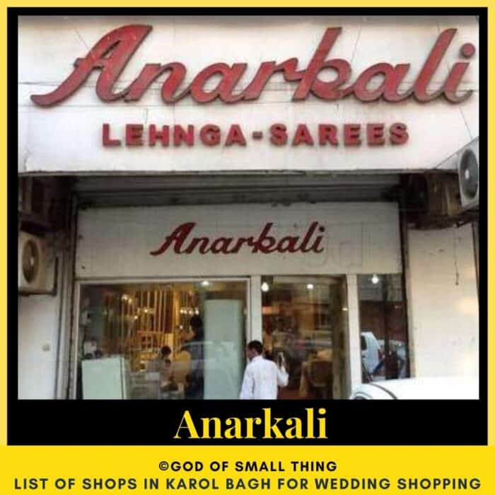 Karol Bagh wedding shopping Anarkali