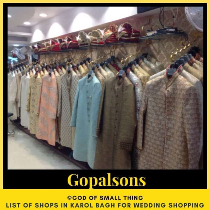 Karol Bagh wedding shopping Gopalsons