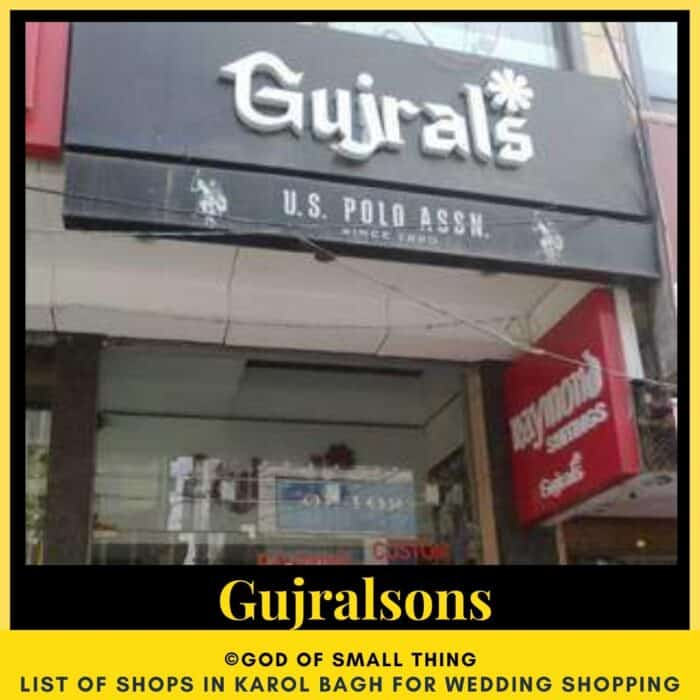Karol Bagh wedding shopping Gujralsons