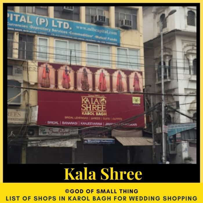 Karol Bagh wedding shopping Kala Shree