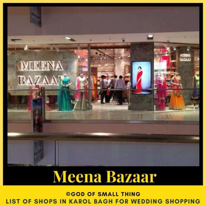 Karol Bagh wedding shopping Meena Bazaar