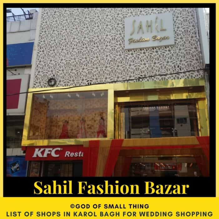 Karol Bagh wedding shopping Sahil Fashion Bazar