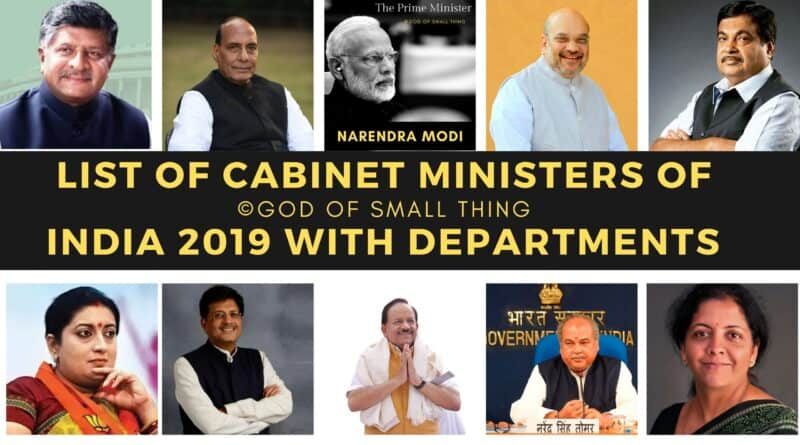 List of Cabinet Ministers of India 2019