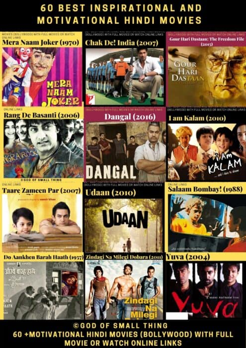 60 Best Inspirational and Motivational Hindi Movies (Bollywood) with Watch Online Links
