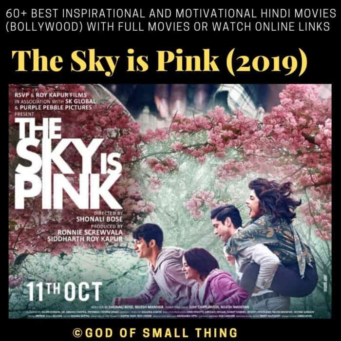 Motivational bollywood movies The Sky is Pink