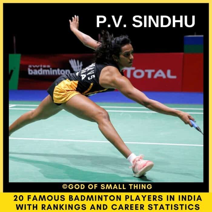 badminton players in India P.V. Sindhu