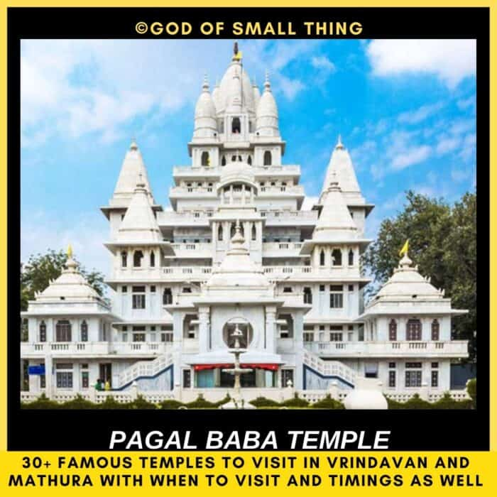 temples in vrindavan Pagal Baba temple