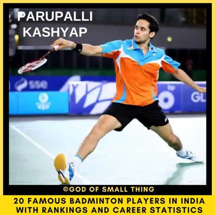 badminton players in India Parupalli Kashyap