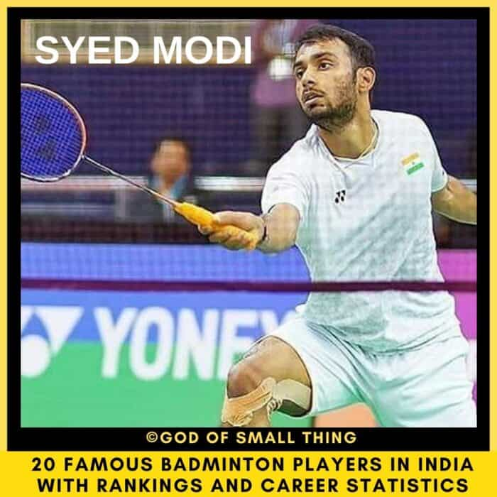 badminton players in India Syed Modi