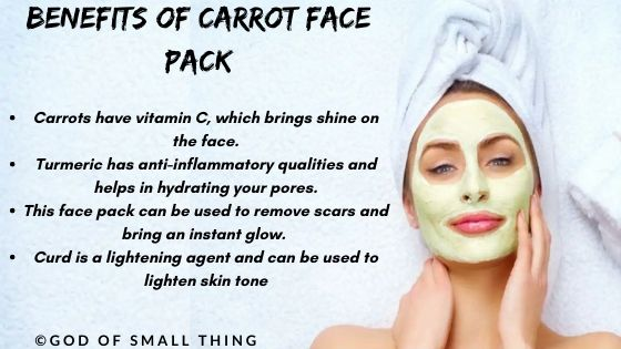 Benefits of Carrot face pack