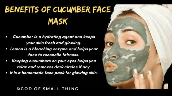 instant face glow pack: Cucumber face mask