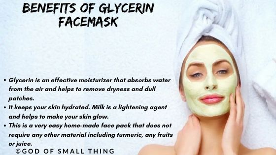 instant face glow pack: Benefits of Glycerin Facemask