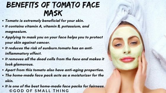 home remedies for instant glow: Benefits of Tomato face mask