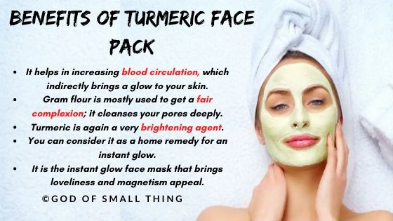 homemade face pack: Benefits of Turmeric face pack