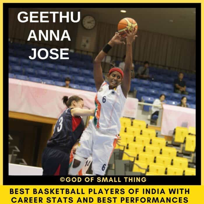 Best Basketball Players of India Geethu Anna Jose