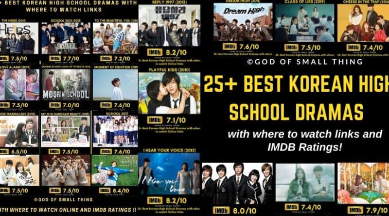 Best Korean High School Dramas (1)