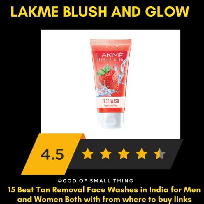 Lakme blush and glow Best Tan Removal Face Wash for Women