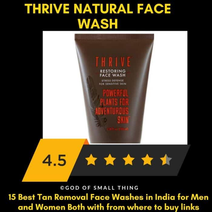 Thrive natural face wash Best Tan Removal Face Wash for men