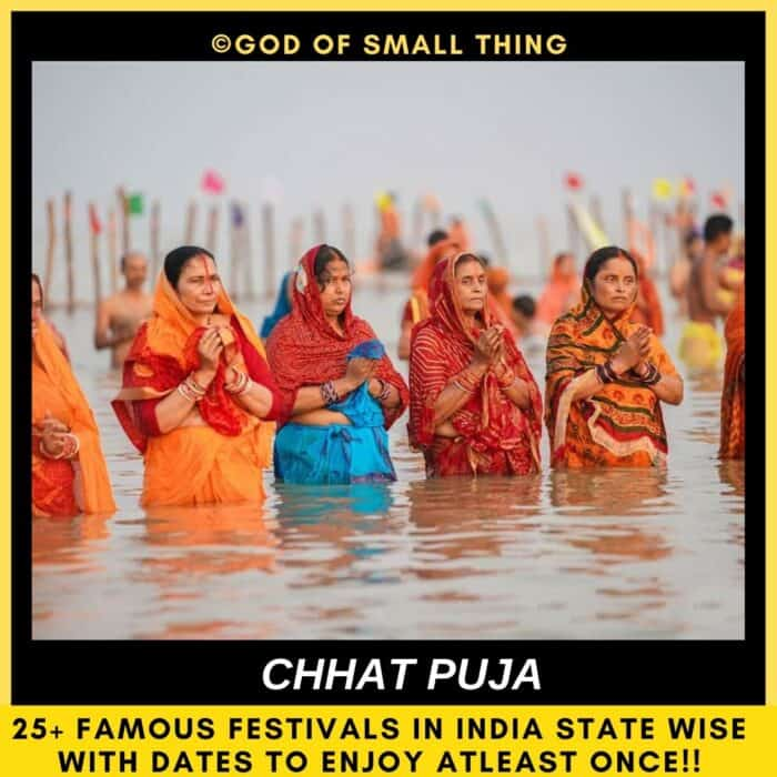 Popular festivals in India Chhat Puja