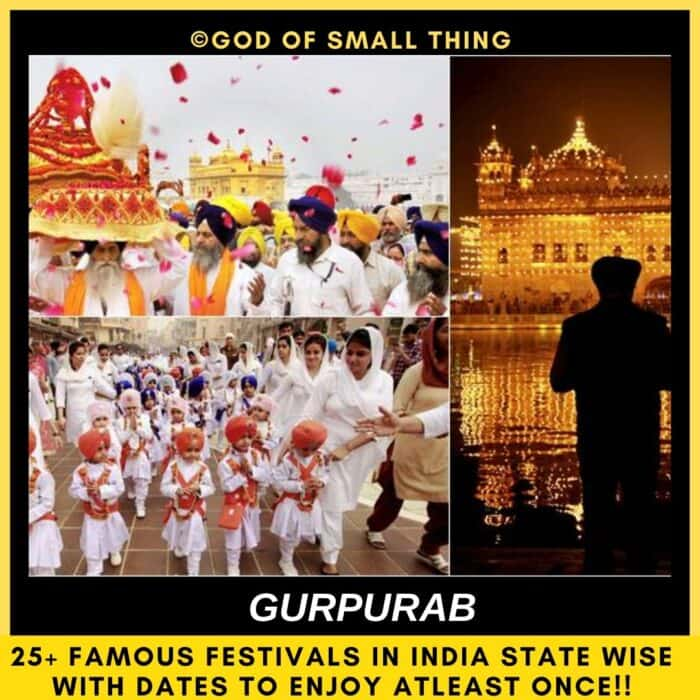Popular festivals in India Gurpurab