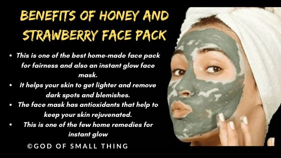 home made face pack: Honey and strawberry face pack