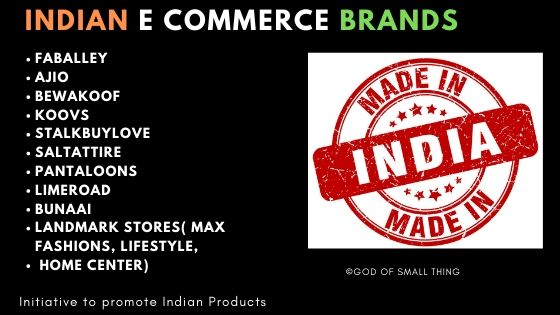 Indian E commerce brands