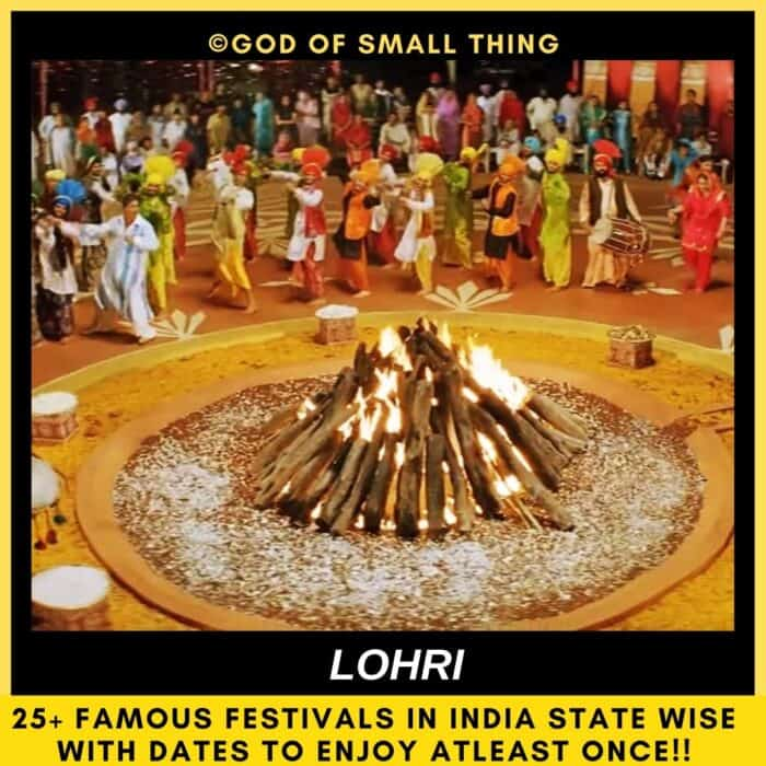 Indian festivals Lohri in india