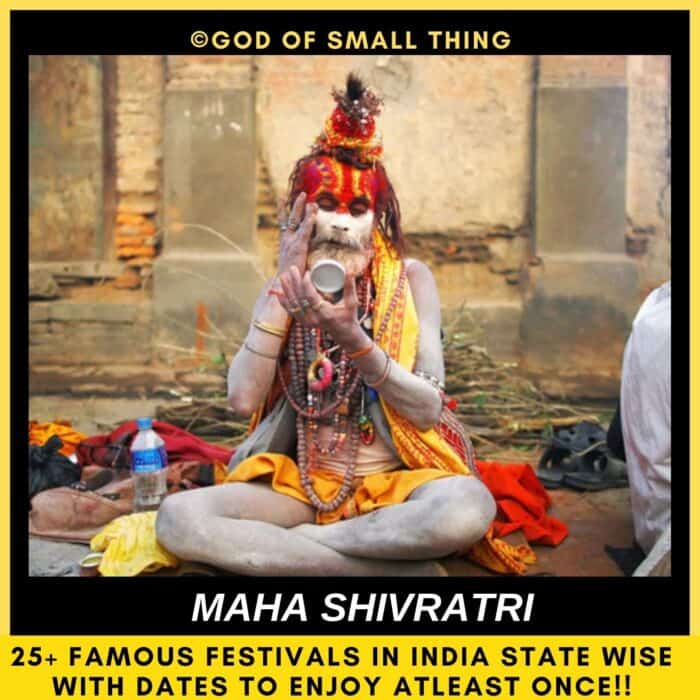 Indian festivals Maha Shivratri in india