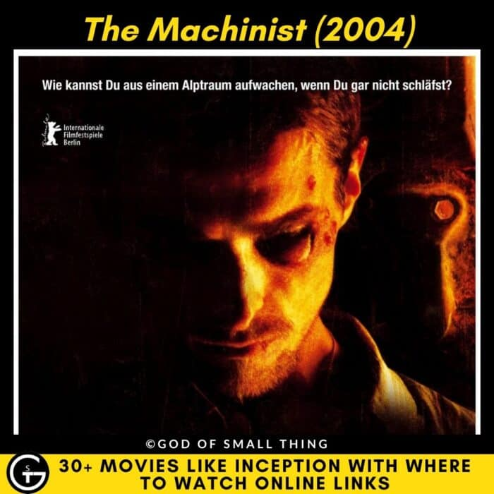 Movies Like Inception The Machinist (2004)