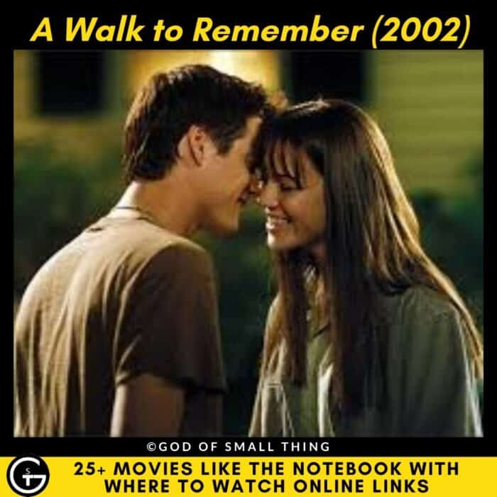 Movies Like The Notebook A Walk to Remember