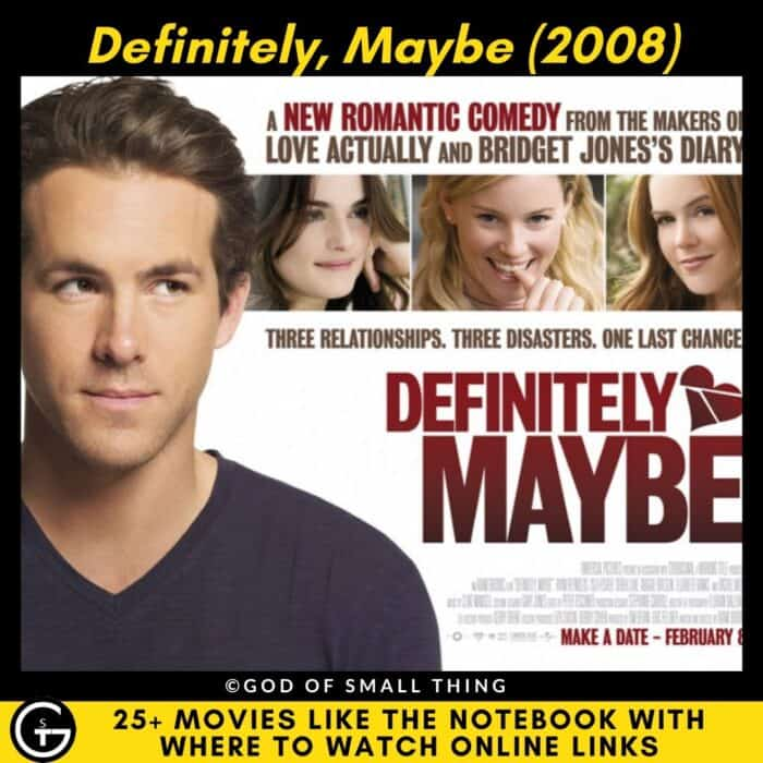 Movies Like The Notebook Definitely, Maybe
