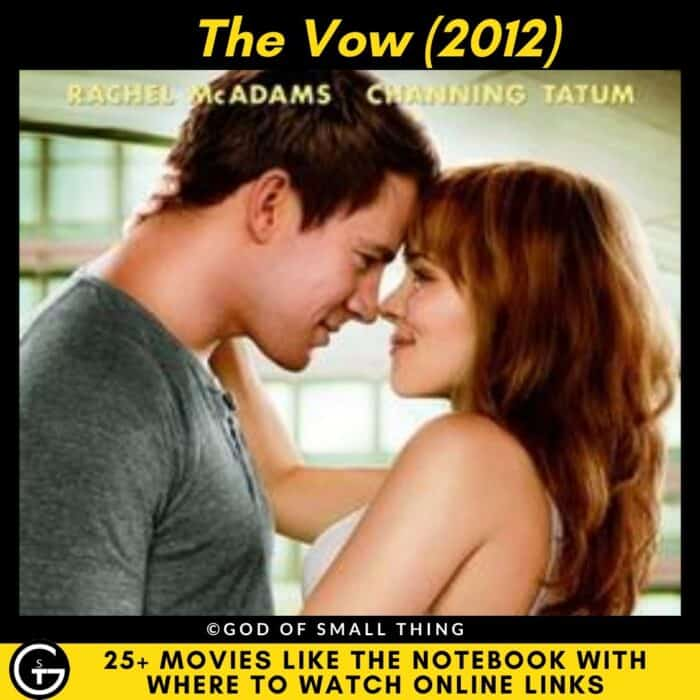 Movies Like The Notebook The Vow
