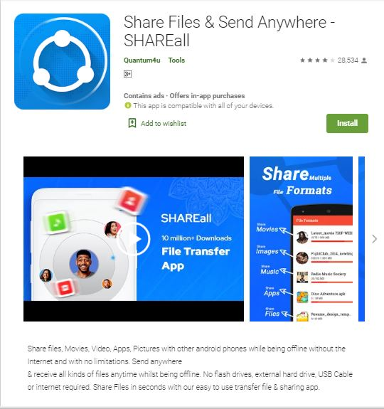 Shareall Indian App
