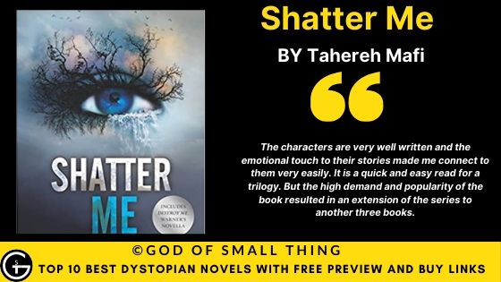 Best Dystopian Books: Shatter Me book review