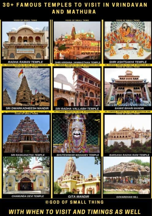 Temples in Vrindavan and Mathura
