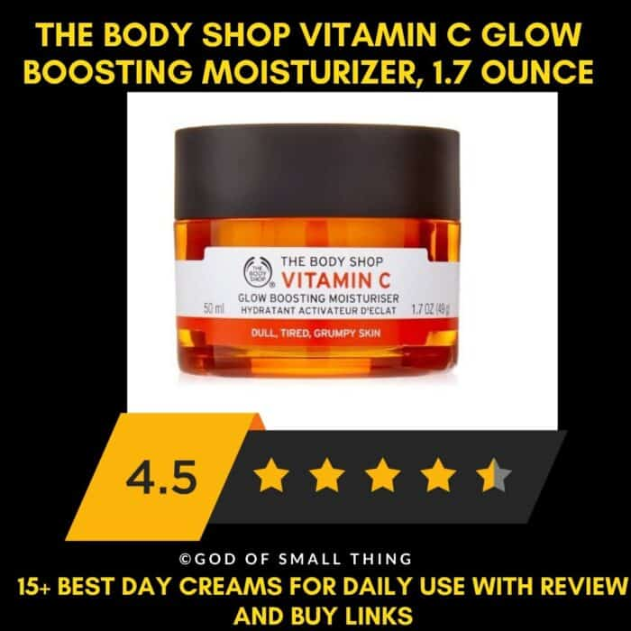 Best Day Creams in India The Body Shop Vitamin C Glow Boosting Moisturizer