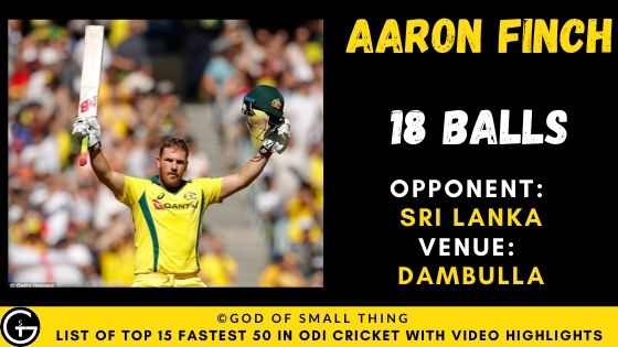 Aaron Finch Fastest Fifty
