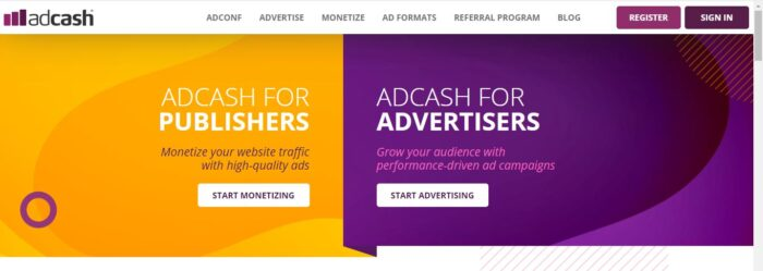 Adcash google ads alternatives