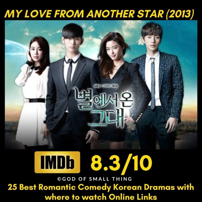 My Love From Another Star Romantic Comedy Korean Dramas