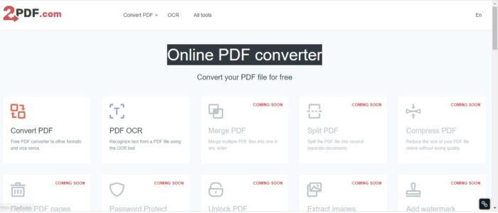 Converting HEIC to PDF with 2PDF.com